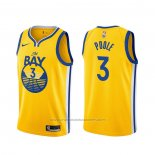 Maillot Golden State Warriors Jordan Poole #3 Statement Or