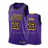 Maillot Los Angeles Lakers Anthony Davis #23 Ville 2019-20 Volet
