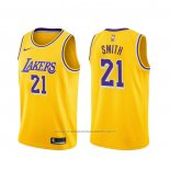 Maillot Los Angeles Lakers J.r. Smith #21 Icon 2020 Jaune
