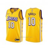 Maillot Los Angeles Lakers Jared Dudley #10 Ville 2019-20 Jaune