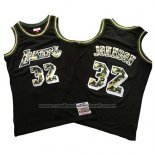 Maillot Los Angeles Lakers Magic Johnson #32 Camouflage Noir