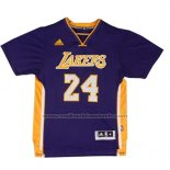 Maillot Manche Courte Los Angeles Lakers Kobe Bryant #24 Volet