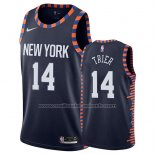 Maillot New York Knicks Allonzo Trier #14 Ville 2019 Bleu