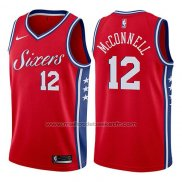 Maillot Philadelphia 76ers T.j. McConnell #12 Statement 2017-18 Rouge