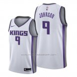 Maillot Sacramento Kings B.j. Johnson #9 Association Blanc