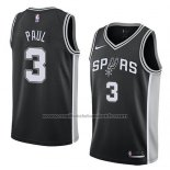 Maillot San Antonio Spurs Brandon Paul #3 Icon 2018 Noir