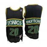 Maillot Seattle SuperSonics Gary Payton #20 Mitchell & Ness 1994-95 Noir