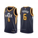 Maillot Utah Jazz Rayjon Tucker #6 Icon Edition Bleu