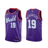Maillot 2020 Rising Star Svi Mykhailiuk #19 World Volet