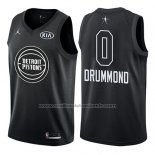 Maillot All Star 2018 Detroit Pistons Andre Drummond #0 Noir