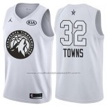 Maillot All Star 2018 Minnesota Timberwolves Karl-anthony Towns #32 Blanc