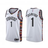 Maillot Brooklyn Nets Jamal Crawford #1 Ville Blanc