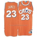 Maillot Cleveland Cavaliers LeBron James #23 Retro Orange