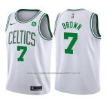 Maillot Enfant Boston Celtics Jaylen Brown #7 Association 2017-18 Blanc