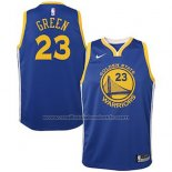 Maillot Enfant Golden State Warriors Draymond Green #23 2018 Bleu