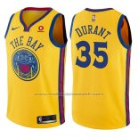 Maillot Enfant Golden State Warriors Kevin Durant #35 Ville Jaune