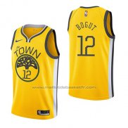 Maillot Golden State Warriors Andrew Bogut #12 Earned 2018-19 Jaune
