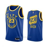 Maillot Golden State Warriors Draymond Green #23 Hardwood Classics 2020-21 Bleu