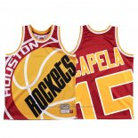 Maillot Houston Rockets Clint Capela #15 Mitchell & Ness Big Face Rouge
