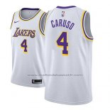 Maillot Los Angeles Lakers Alex Caruso #4 Association 2018-19 Blanc