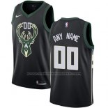 Maillot Milwaukee Bucks Personnalise 17-18 Noir