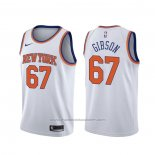 Maillot New York Knicks Taj Gibson #67 Association Blanc