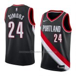 Maillot Portland Trail Blazers Anfernee Simons #24 Icon 2018 Noir