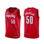 Maillot Portland Trail Blazers Caleb Swanigan #50 Earned Rouge