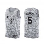 Maillot San Antonio Spurs Dejounte Murray #5 Earned Camouflage