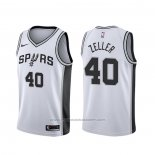 Maillot San Antonio Spurs Tyler Zeller #40 Association Blanc