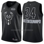 Maillot All Star 2018 Milwaukee Bucks Giannis Antetokounmpo #34 Noir