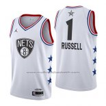 Maillot All Star 2019 Brooklyn Nets Dangelo Russell #1 Blanc
