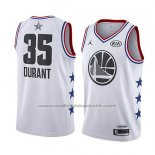 Maillot All Star 2019 Golden State Warriors Kevin Durant #35 Blanc