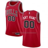 Maillot Chicago Bulls Personnalise 17-18 Rouge