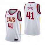 Maillot Cleveland Cavaliers Ante Zizic #41 Association Blanc