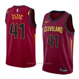 Maillot Cleveland Cavaliers Ante Zizic #41 Icon 2018 Rouge