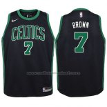 Maillot Enfant Boston Celtics Jaylen Brown #7 Statement 2017-18 Noir
