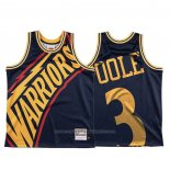 Maillot Golden State Warriors Jordan Poole #3 Mitchell & Ness Big Face Bleu