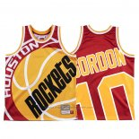 Maillot Houston Rockets Eric Gordon #10 Mitchell & Ness Big Face Rouge