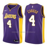 Maillot Los Angeles Lakers Alex Caruso #4 Statement 2017-18 Volet