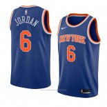 Maillot New York Knicks Deandre Jordan #6 Icon 2018 Bleu