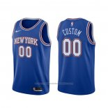 Maillot New York Knicks Personnalise Statement 2019-20 Bleu