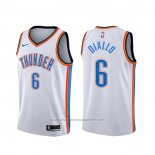 Maillot Oklahoma City Thunder Hamidou Diallo #6 Association Blanc