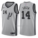 Maillot San Antonio Spurs Danny Green #14 Statement 2017-18 Gris