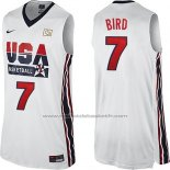 Maillot USA 1992 Larry Bird #7 Blanc