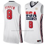 Maillot USA 1992 Scottie Pippen #8 Blanc