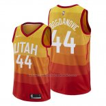 Maillot Utah Jazz Bojan Bogdanovic #44 Ville Orange
