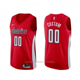 Maillot Washington Wizards Personnalise Earned Rouge