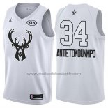 Maillot All Star 2018 Milwaukee Bucks Giannis Antetokounmpo #34 Blanc