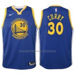 Maillot Enfant Golden State Warriors Stephen Curry #30 2017-18 Bleu